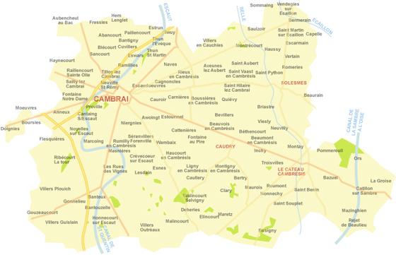 Plan De La Ville Le Cateau Cambresis